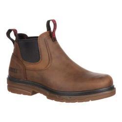 Men's Rocky Elements Shale Twin Gore Steel Toe Boot RKK0158 Brown Leather