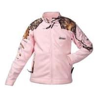 Girls' Rocky Fleece Jacket HW00048 Mossy Oak Winter Camo/Pink