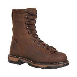 Men's Rocky IronClad Steel Toe Waterproof Work Boot 6698 Brown