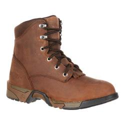 Women's Rocky Lace-Up Aztec Steel Toe RKK0138 Brown Leather Nylon