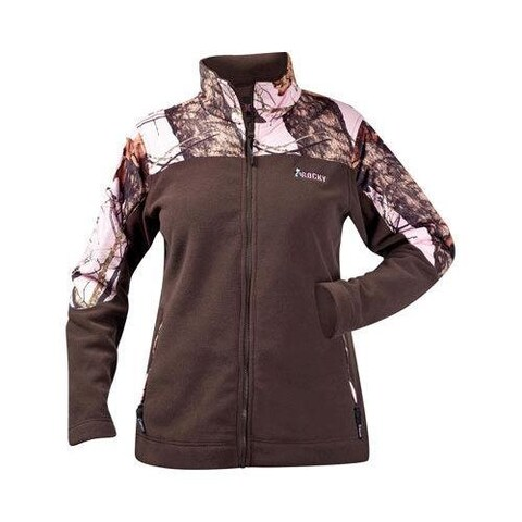Women's Rocky Silent Hunter Combo Fleece Jacket 602418 Mossy Oak Winter/Pink