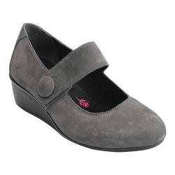 Women's Ros Hommerson Elsa Button Wedge Grey Nubuck