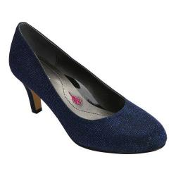 Women's Ros Hommerson Janet Pump Blue Iridescent Glitter Leather