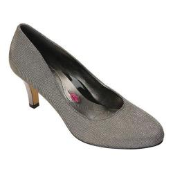 Women's Ros Hommerson Janet Pump Silver Iridescent Glitter Leather