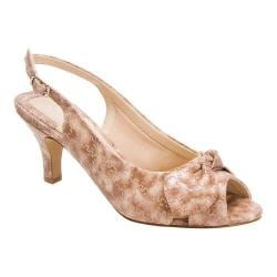 Women's Ros Hommerson Lindsay Beige/Taupe Embossed Patent