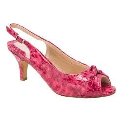 Women's Ros Hommerson Lindsay Pink/Fuchsia Embossed Patent