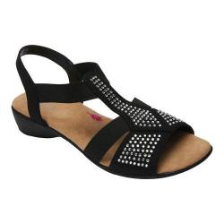 Women's Ros Hommerson Mellow Sandal Black Fabric