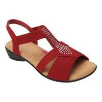 Women's Ros Hommerson Mellow Sandal Red Fabric