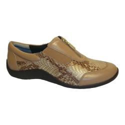 Women's Ros Hommerson Nadia Walking Shoe Nude/Bronze Leather/Snake
