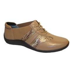 Women's Ros Hommerson Nancy Lace-Up Nude/Bronze Leather
