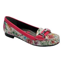 Women's Ros Hommerson Regina Loafer Floral Leather