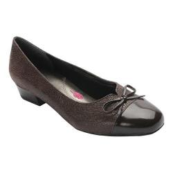 Women's Ros Hommerson Tawnie Pump Brown Snakeskin/Patent Leather