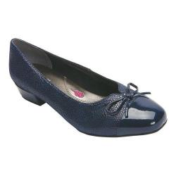 Women's Ros Hommerson Tawnie Pump Navy Lizard Print Leather