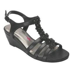 Women's Ros Hommerson Wanda Sandal Dusty Black Leather