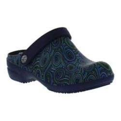 Women's Sanita Clogs Aero Swirl Clog Blue/Green