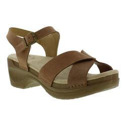 Women's Sanita Clogs Daisy Darla Ankle Strap Sandal Brown