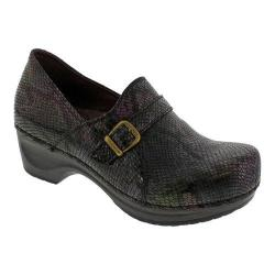 Women's Sanita Clogs Danielle Clog Purple Croc Embossed