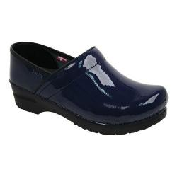 Women's Sanita Clogs Professional Patent Blue