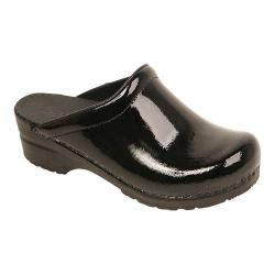 Women's Sanita Clogs Sonja Patent Black