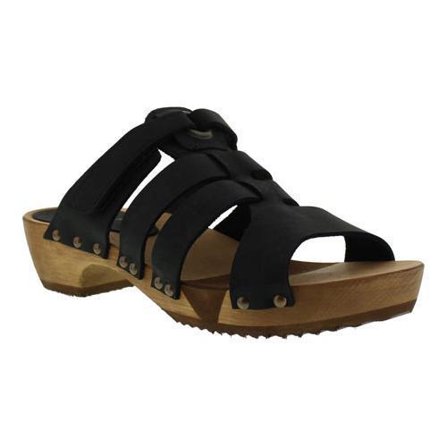 c7520bae948 Shop Women s Sanita Clogs Wood Fatu Round Flex Sandal Black - Free Shipping  Today - Overstock.com - 11796442