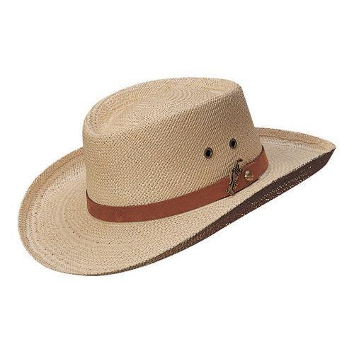 58f1ff7f2b6fe Shop Men s Scala 350GOS Gambler Straw Hat Natural - Free Shipping On Orders  Over  45 - Overstock - 11796467