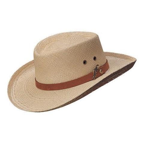 Men's Scala 350GOS Gambler Straw Hat Natural