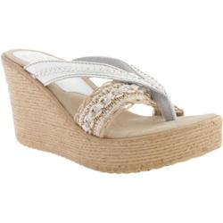 Women's Sbicca Brilliant White Leather/Jute
