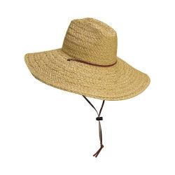 Men's Scala 318OS Lifeguard Straw Hat with Chin Cord Natural (2 options available)
