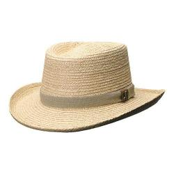 Men's Scala 321OS Gambler Straw Hat with Golf Badge Natural