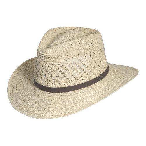 1242ef3b6a4e79 Shop Men's Scala MR112OS Crocheted Outback Straw Hat Natural - Free  Shipping Today - Overstock - 11796575