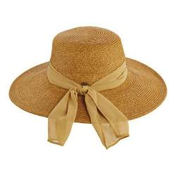 Women's Scala LP222 Banded Sun Hat Toast