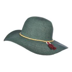 Women's Scala LT172 Beaded Bangkok Floppy Sun Hat Teal