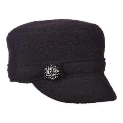 Women's Scala LW612 Boiled Wool Cadet Hat Black