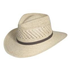 Men's Scala MR112OS Crocheted Outback Straw Hat Natural