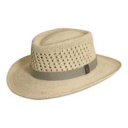 Men's Scala MR113OS Crocheted Outback Straw Hat Natural