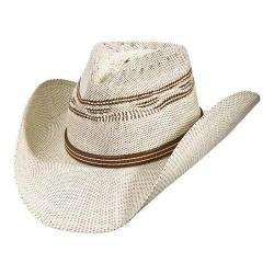 Men's Scala ST85 Two-Tone Woven Pinch Front Cowboy Hat Brown