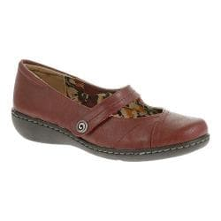 Women's Soft Style Jayne Mary Jane Dark Red Tumbled Leather