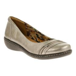 Women's Soft Style Jordyn Ballet Flat Dark Pewter Tumbled Leather
