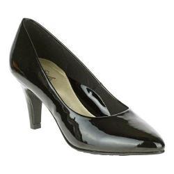 Women's Soft Style Raylene Pump Black Polyurethane Patent