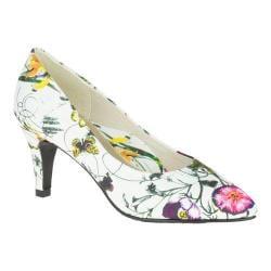 Women's Soft Style Raylene Pump White Spring Grosgrain