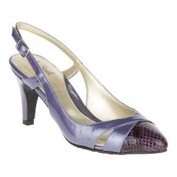Women's Soft Style Rielle Slingback Cadet Pearlized Polyurethane Patent