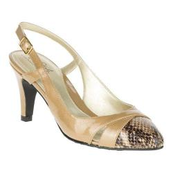 Women's Soft Style Rielle Slingback Taupe Pearlized Polyurethane Patent
