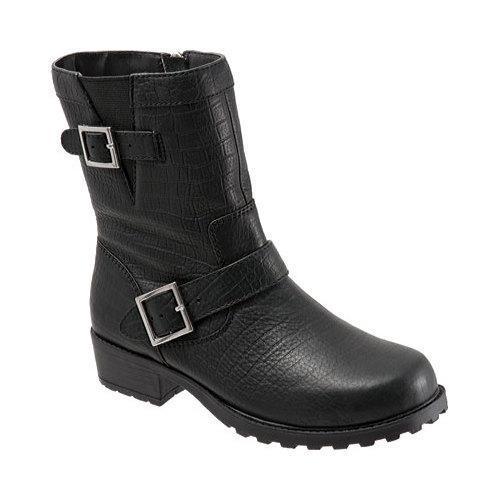 Women's SoftWalk Bellville Black Lizard Embossed Leather