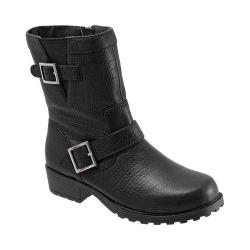 Women's SoftWalk Bellville Black Lizard Embossed Leather