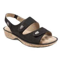 Women's SoftWalk Bolivia Black Tumbled Buff Leather