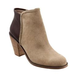 Women's SoftWalk Frontier Boot Sand/Dark Brown Cow Suede/Full Grain Leather