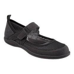 Women's SoftWalk Haddley Mary Jane Black Nubuck Leather/Soft Mesh Fabric