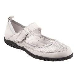 Women's SoftWalk Haddley Mary Jane Light Grey Nubuck Leather/Soft Mesh Fabric