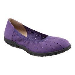 Women's SoftWalk Hampshire Ballerina Flat Electric Violet Nubuck Leather
