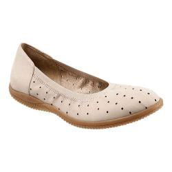 Women's SoftWalk Hampshire Ballerina Flat Sand Nubuck Leather